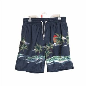 Old Navy men's swimming shorts trunks Hawaiian